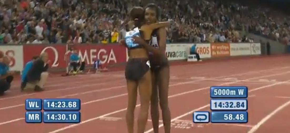 Meseret and Tirunesh 2013 Diamond 5000m