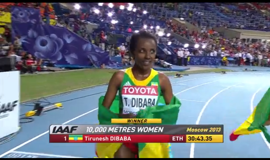 Tirunesh Dibaba 2013 Moscow 10000m gold