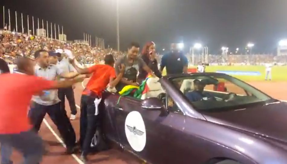 Teddy Afro at Qatar 2014 IAAF Diamond League opening ceremony