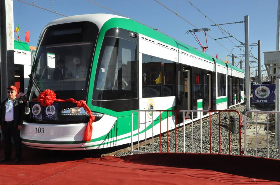 Addis Ababa Light Rail System Testing