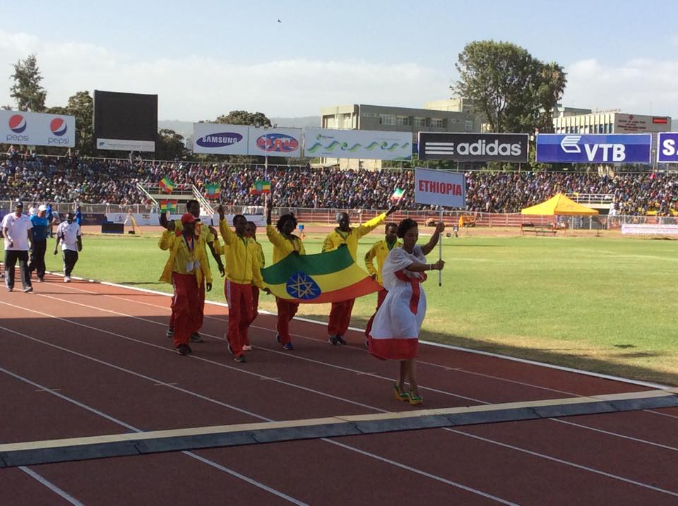 12th African youth athletics opening ceremony Addis Ababa Stadium