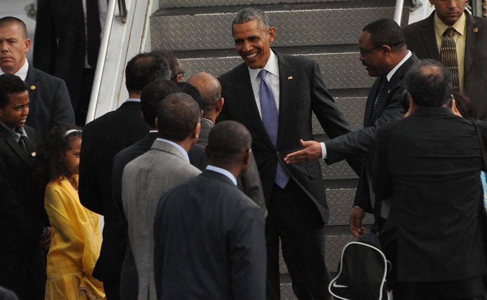 President Obama Arrives at Bole Airport Addis Ababa Ethiopia